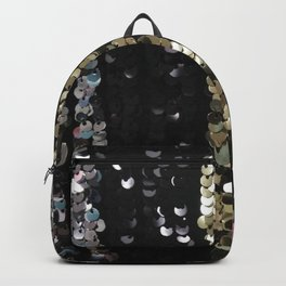 Sequins in Black, Gold and Silver Backpack