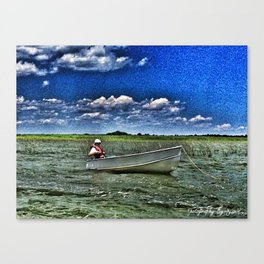 Lil White Boat 1 Canvas Print