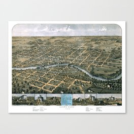 South Bend - Indiana - 1866 Canvas Print