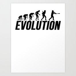 Baseball Evolution Baseball Player Art Print