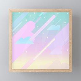 Pastel Sky Framed Mini Art Print