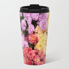 A Sea of Chrysanthemums #1 #floral #art #Society6 Travel Mug