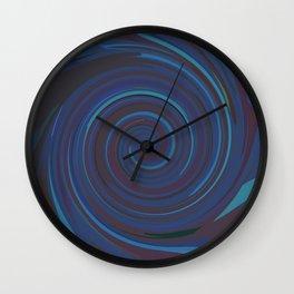 VERTIGO DEEP BLUE Wall Clock
