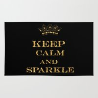 keep calm Area & Throw Rugs featuring Keep calm by UtArt