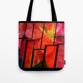 Mottled Red Poinsettia 1 Ephemeral Tinted 2 Tote Bag