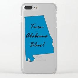 Turn Alabama Blue! Vote Democrat liberal midterms 2018 Clear iPhone Case