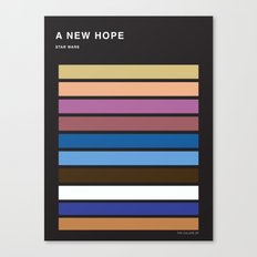 The colors of StarWars - A New Hope episode 4 Canvas Print