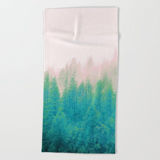Forest Fog V2 #society6 #decor #buyart Beach Towel