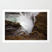 Goðafoss from Above Art Print