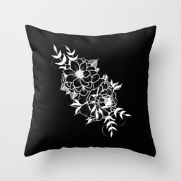 Etched Floral Throw Pillow