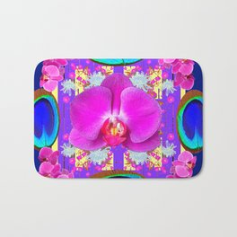 Decorative  Purple Fuchsia Orchids Bath Mat
