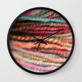 Handspun Yarn Color Pattern by robayre Wall Clock