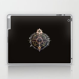 Saraswati Mandala Black Laptop & iPad Skin