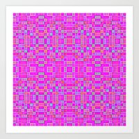candy Art Prints featuring Candy Colored Pixels by 2sweet4words Designs