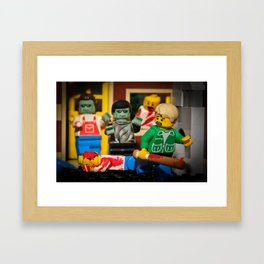 Night of the Lego Dead Framed Art Print