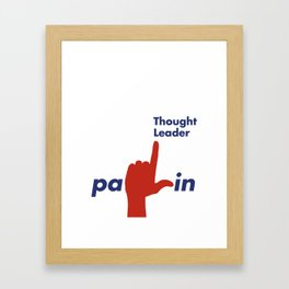 Palin Thought Leader Framed Art Print