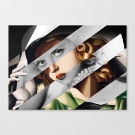 Tamara De Lempicka & Bette Davis Canvas Print