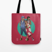 lilo and stitch Tote Bags featuring Lilo & Stitch by Hyung86