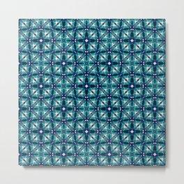 Teal Tiles Metal Print