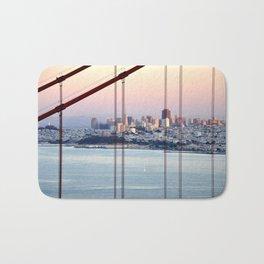 SAN FRANCISCO & GOLDEN GATE BRIDGE AT SUNSET Bath Mat