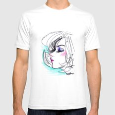 Sharpie Scribble Mens Fitted Tee White MEDIUM