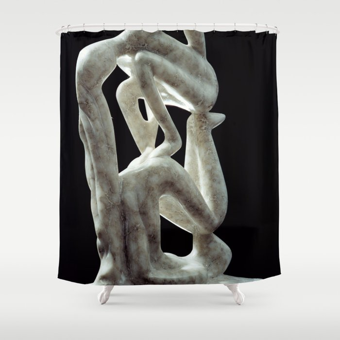 Amnon and Tamar by Shimon Drory Shower Curtain