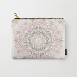 Floral Ombre Beige Mandala Carry-All Pouch