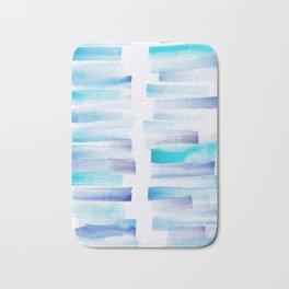 7 | 181101 Watercolour Palette Abstract Art | Lines | Stripes | Bath Mat