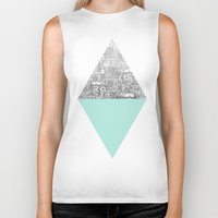 large Biker Tanks featuring Diamond by David Fleck