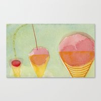 cherry Canvas Prints featuring Cherry by Angella Meanix