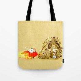 Dragon making Tea Tote Bag