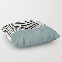 River Stone & Stripes Floor Pillow