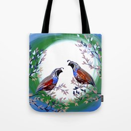 Quails and Serenity Tote Bag