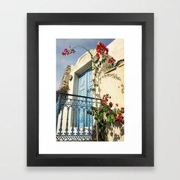 Santorini Door Framed Art Print