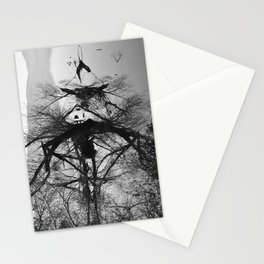 Mirrored branches Stationery Cards