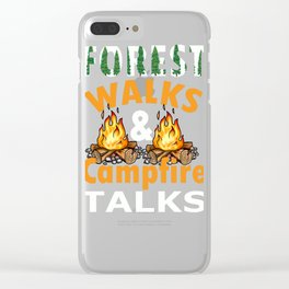 Outdoor Campfire Graphic Group  Print Clear iPhone Case