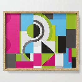 Creative Geometric Design Serving Tray