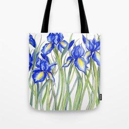 Blue Iris, Illustration Tote Bag