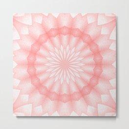 Mozaik Mandala Flower (coral) Metal Print