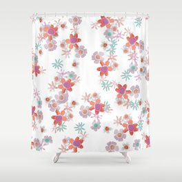 Bits of Flowers Shower Curtain