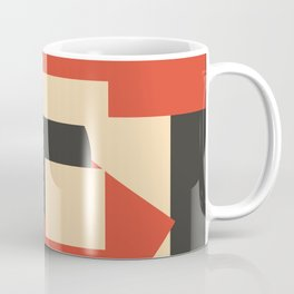 Geometrical abstract art deco mash-up scarlet beige Coffee Mug