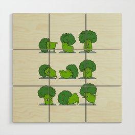 Broccoli Yoga Wood Wall Art