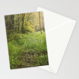Red Maple Woods (Instax - Instant Film) Stationery Cards