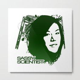 Sassy Scientist Metal Print