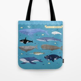 Whale Species Tote Bag