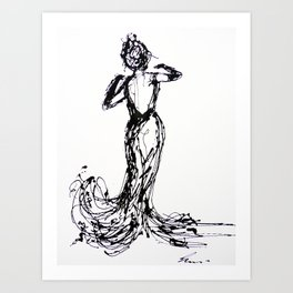 dancing alone Art Print