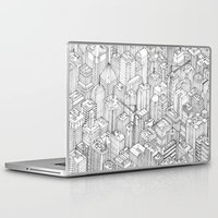 large Laptop & iPad Skins featuring Isometric Urbanism pt.1 by Herds of Birds