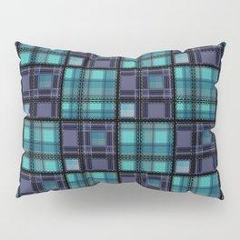 Blue purple colorful checkered pattern . Pillow Sham