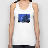 kindle Tank Tops featuring Moon between Trees  - JUSTART © by JUSTART
