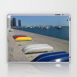 Chicago Shoreline, Skyline, Boats Laptop & iPad Skin